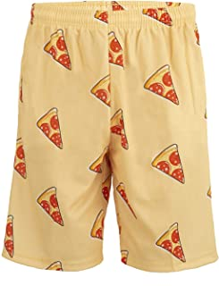 Lacrosse Shorts - Pepperoni Pizza Pattern, Knee Length with Deep Pockets …