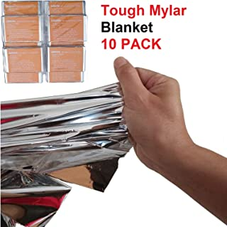 Leberna Thermal Emergency Sleeping Bag Mylar Survival Gear Foil Bivy Sack Shelter Supply | 3 x 7 FT 36