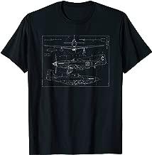 P-51D Mustang Bomber Blueprint Shirt