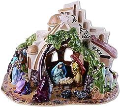 Blue Sky Ceramics Bethlehem Nativity Tealight Holder, Multi