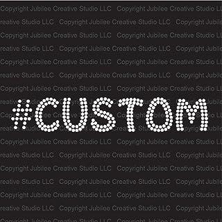 Hashtag Custom Clear Word Iron On Rhinestone Crystal T-Shirt Transfer Funky Style Letters by JCS Rhinestones