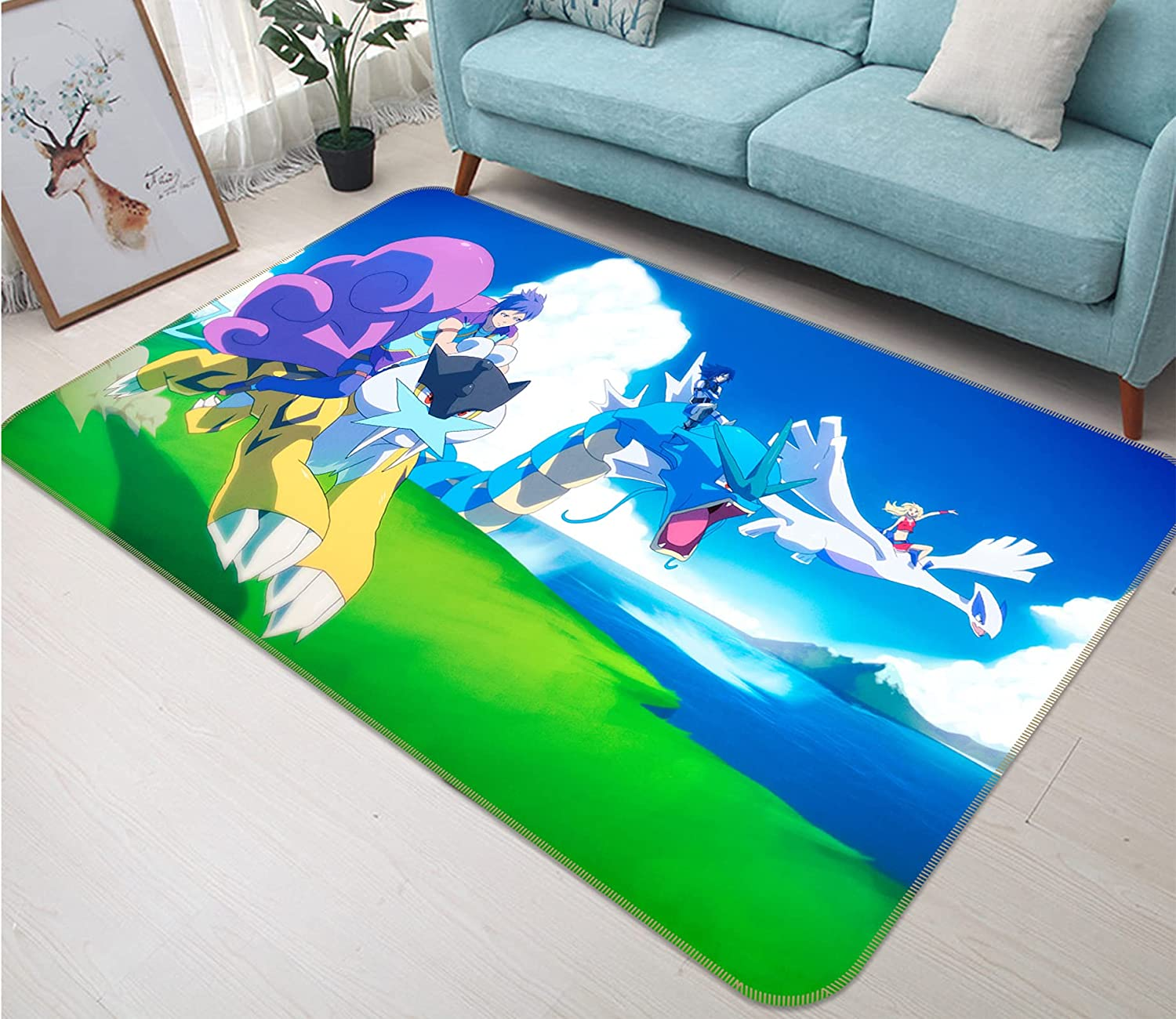 3D Rug Mat for Pokemon Pikachu 1625 Opening large release sale Non Ru Product Japan Slip Game Anime