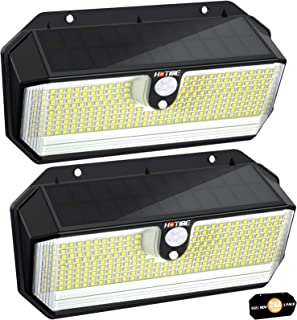Luz Solar Exterior, [2021 Súper Brillante 282 LED - 2600 Lumens - 3 Modos] Luces Solares con Sensor de Movimiento, Focos L...