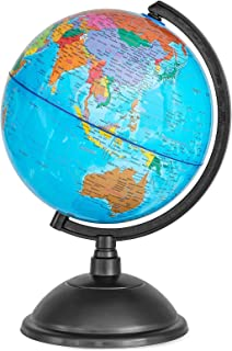 Juvale 8 Inch World Perfect Spinning Globe for Kids, Geography Students, Teachers and More, Blue