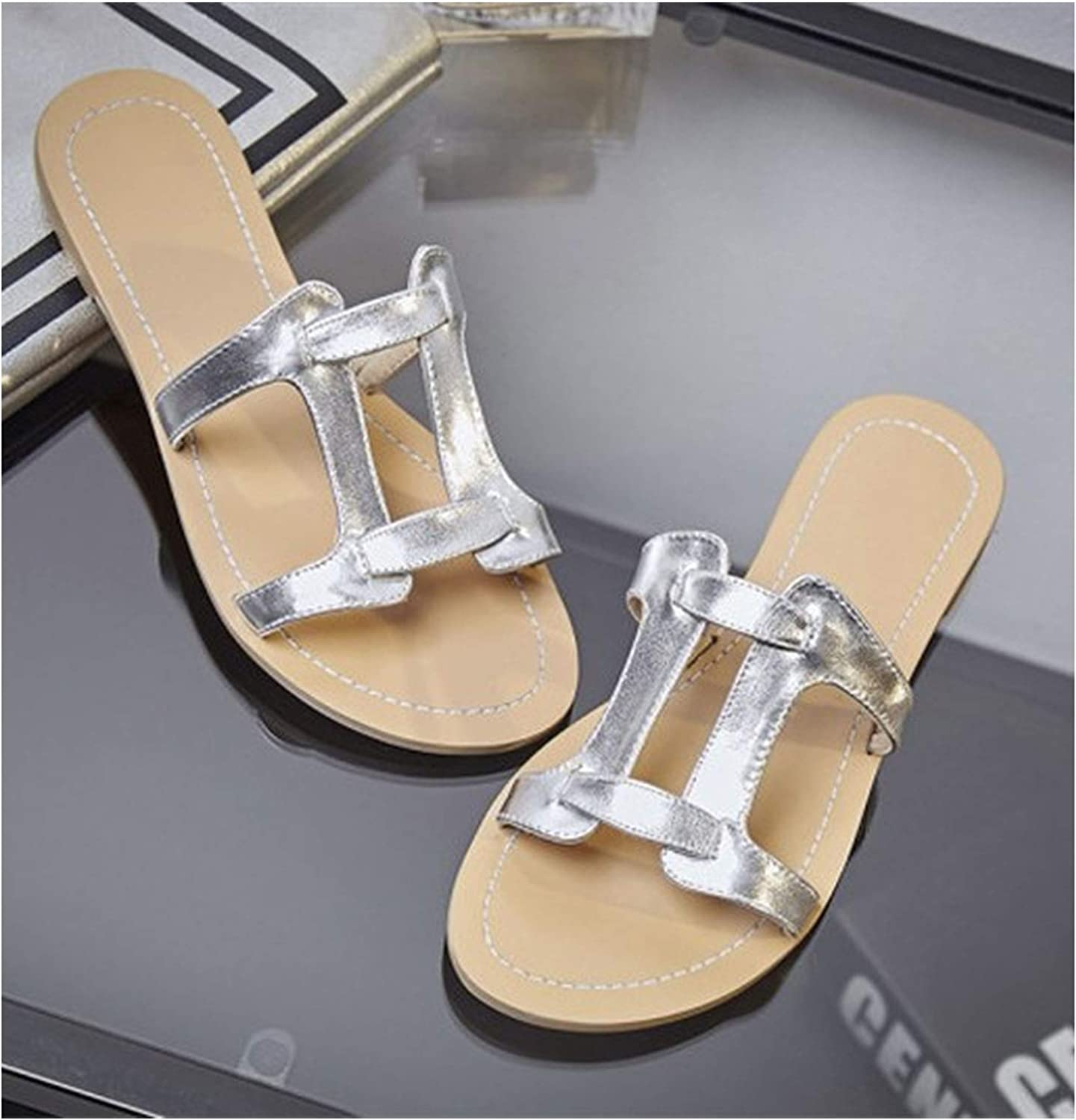Longbao Women 2019 New Classic Design Quality Cow Leather Female Sandals Comfortable shoes Woman