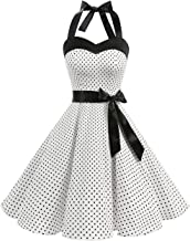 VKStar/®Abito retr/ò Chic Stile Halter Vintage 1950 Audrey Hepburn Vestito da Cocktail Femminile Rockabilly Swing Abito Classico Anni 50