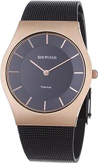 Bering 丹麦品牌  经典系列 钢带时尚超薄手表女防水石英表 腕表 手表女款