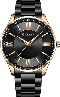 Andoer 8383 Men Quartz Watch Stainless Steel Strap Fashion Multifunction Wristwatch 3ATM Chronograph Dress Watches