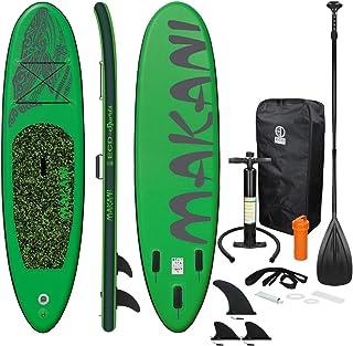 comprar comparacion ECD Germany Tabla Hinchable Makani Paddle Surf/Sup 320 x 82 x 15 cm Verde Stand up Paddle Board PVC/EVA hasta 150kg 3 Anti...