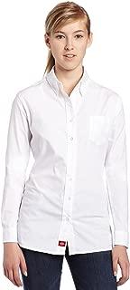 Dickies Juniors Poplin Long-Sleeve Stretch Dress Shirt