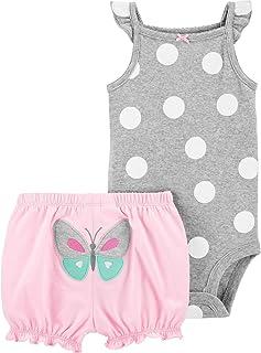 Carter's Baby Girls' 2 Piece Bodysuit Shorts Set