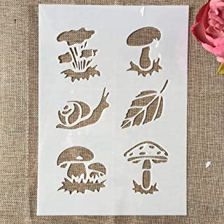 29cm A4 Mushroom Snail Leaves DIY Layering Stencils Wall Painting Scrapbook Coloring Embossing Album Decorative Template