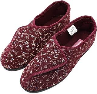 Mwfus Women's Wide Width Slippers with Memory Foam Insole for Diabetic Arthritis Edema Swollen Feet House Shoes Indoor/Outdoor