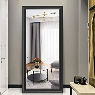 PexFix Full Length Mirror, Rectangular Wall-Mounted Mirror, Bedroom Floor Mirror Standing or Hanging, 65