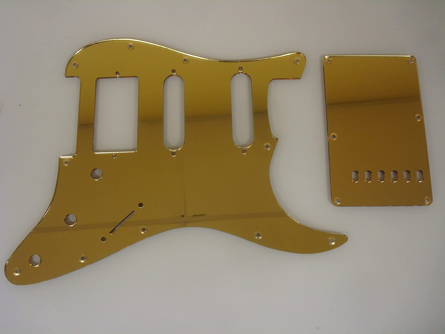New popularity HSS Gold Mirror Pickguard Set Strat Fender Stratocaster Fits Direct stock discount