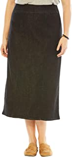 Women's Plus Size Smooth Waist A-Line Denim Skirt