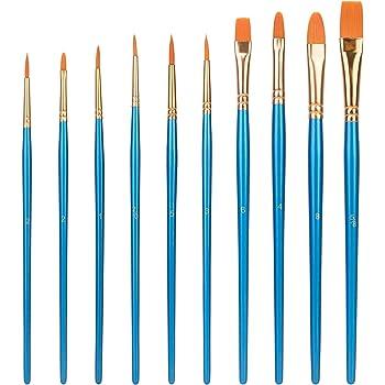 Amazon Basics Art Paint Brush Set, 10 Different Sizes for Artists, Adults & Kids