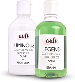 AULI LIFESTYLE Combo of Luminous skin Care Scalp And Hair Cleanser and Legend Massage Elixir Oil for Scalp for Hair growth