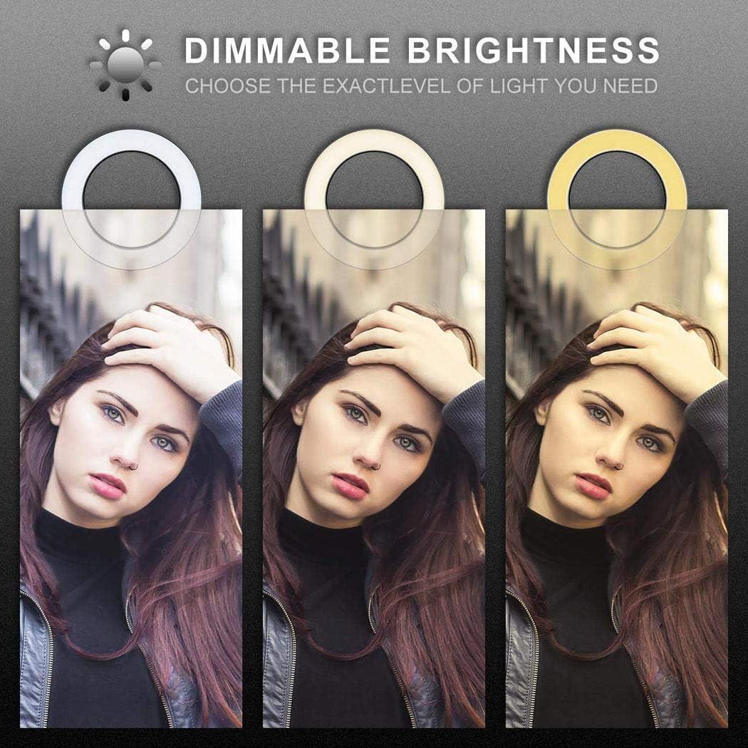 Mandii Broadcast Live Photography Fill Light LED Camera Phone Flash Dimmable Light On-Camera Video Lights
