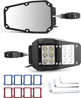 Specchietto retrovisore Aramox adatto per RZR/Ranger, specchietto retrovisore laterale UTV regolabile a 360 gradi, con luc...