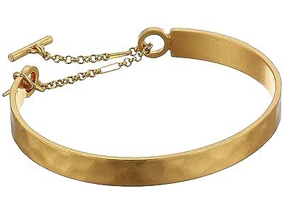Madewell Hammered Cuff Bracelet (Vintage Gold) Bracelet