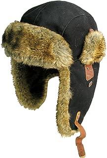Canvas Winter Rabbit Fur Aviator Outdoor Trapper Trooper Pilot Ski Hat   Kakadu Australia