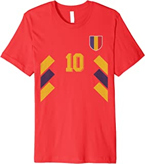 Romania or Romanian in Football or Soccer Style Premium T-Shirt