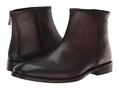 John Varvatos NYC Back Zip Boot (Wood Brown) Men