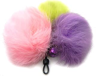 Cat Teaser Wand Refill with Rabbit Fur Pom Poms Cat Toy