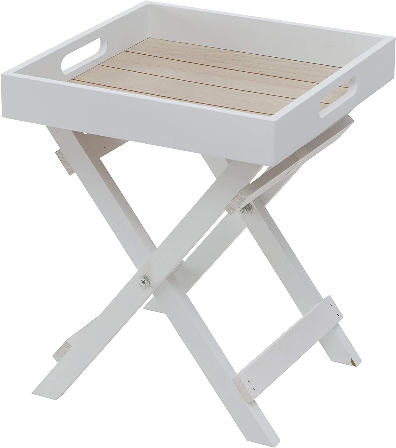 Cape Cod Cocktail Special Campaign Japan's largest assortment Tray Table White Pale Wood Tones and Natural