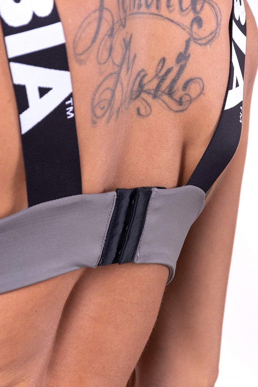 Nebbia Lace Up Sports Bra 694 white Sport BH Weiß Mini Top Fitness Gym Wear