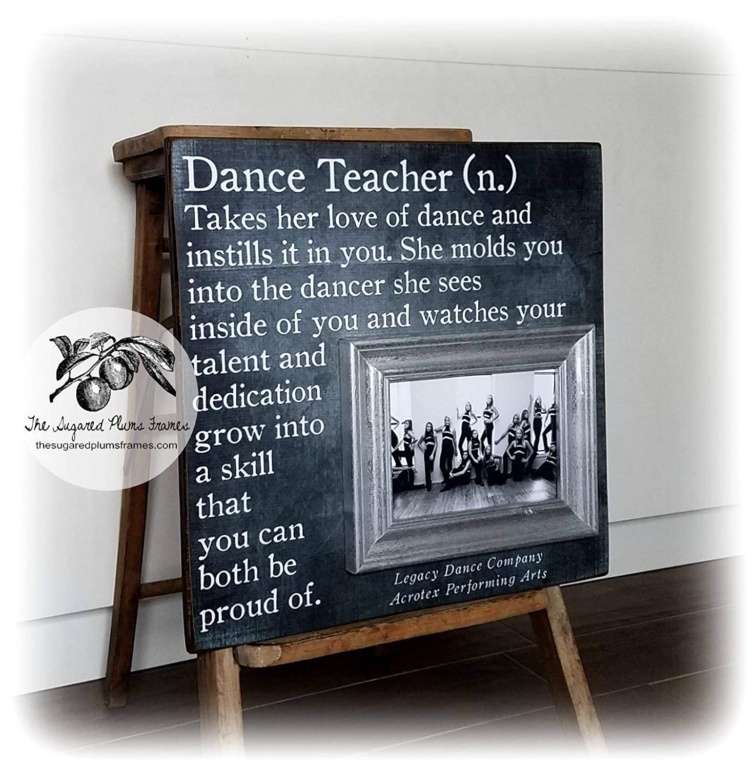 Dance Seasonal Wrap Introduction Teacher Gifts Attention brand Photo Frame