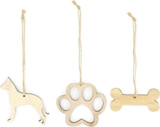 Great Dane Christmas Ornament Dog Lover Gifts Wooden Christmas Ornaments 3-Piece Bundle