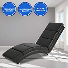 Aoxun Massage Recliner Chair - Leather Ergonomic Modern Upholstered Chaise Lounge for Indoor Furniture (Vibrant Type Message - Black)