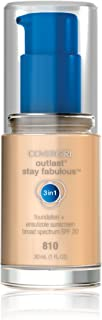 COVERGIRL Outlast Stay Fabulous 3-in-1 All Day Foundation Classic Ivory, 1 Fluid Ounce (packaging may vary)