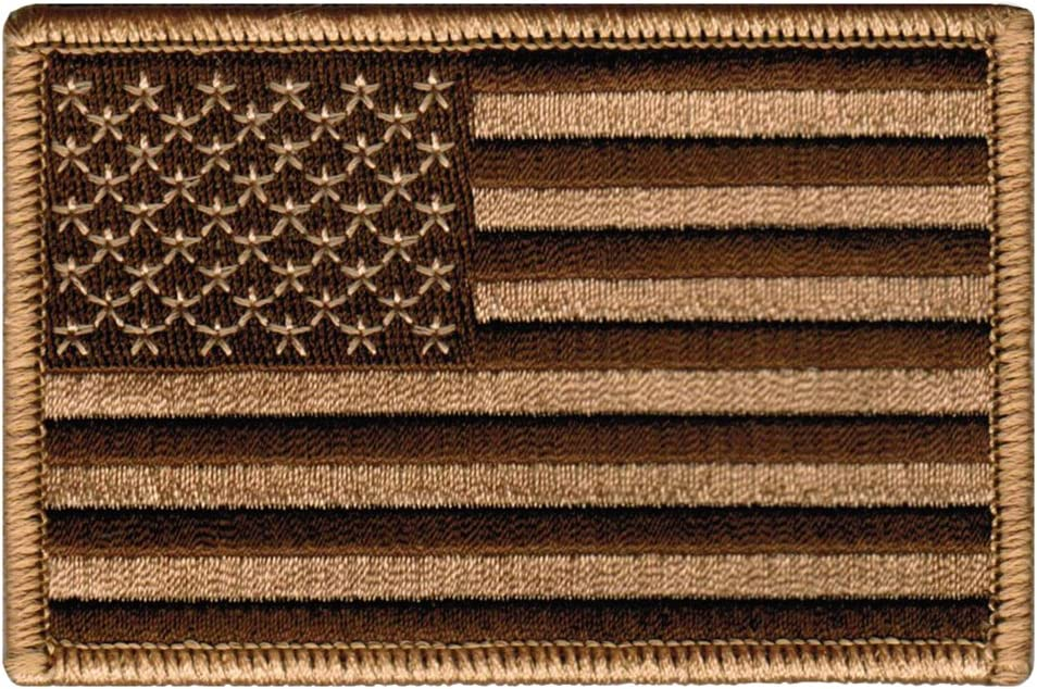 Cheap sale American Flag Embroidered Patch Camo Tactical States United cheap Tan