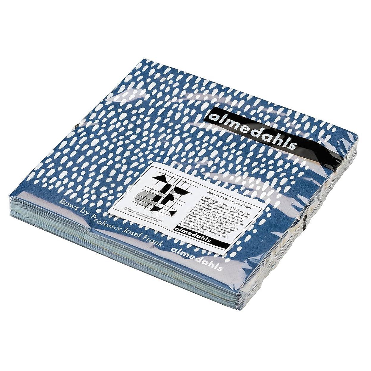 世界無秩序月almedahls アルメダールス?ペーパーナプキン(BOWS/70394555)北欧雑貨 (ブルー)