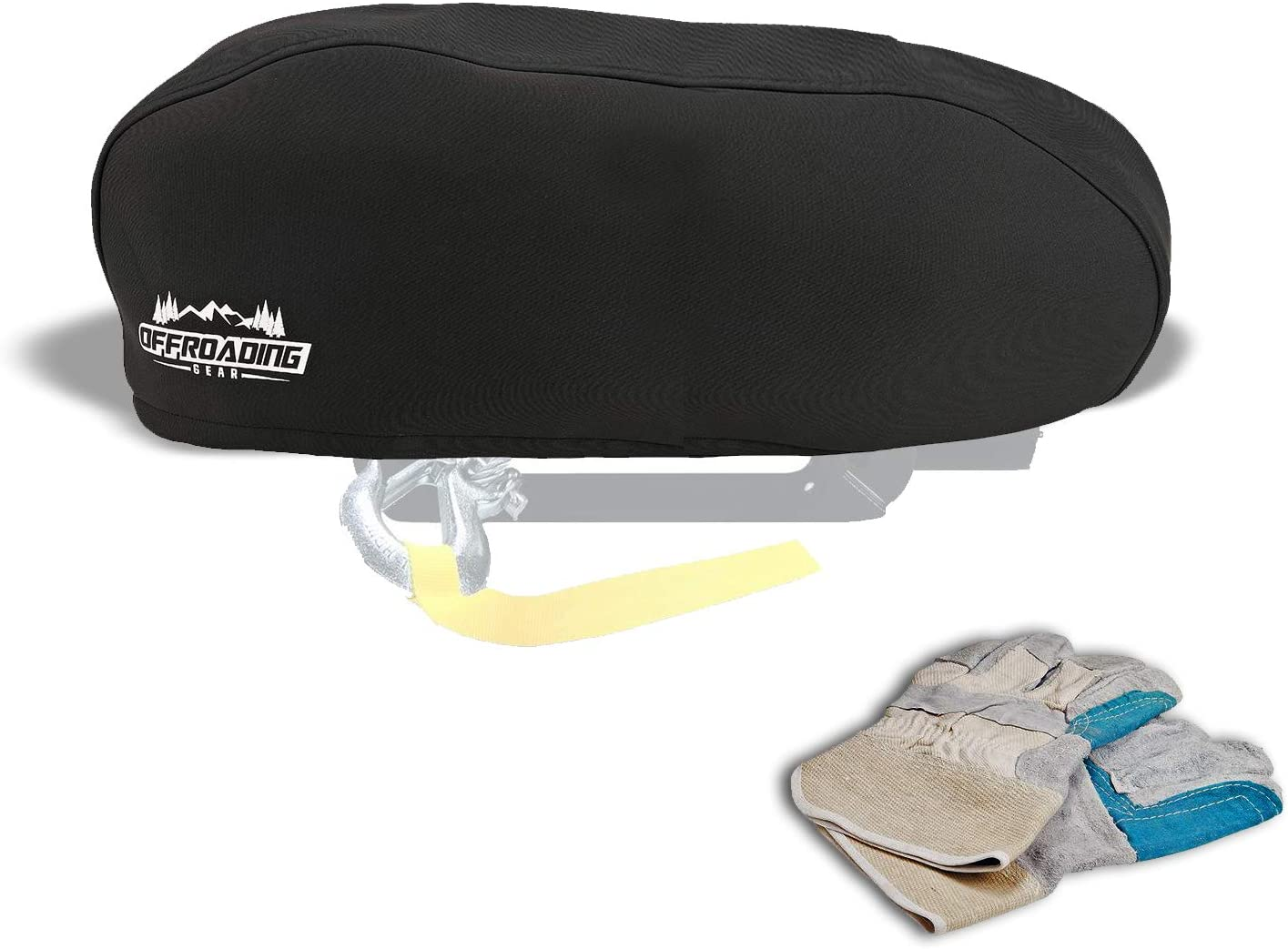 Winch SEAL limited product Cover 8000-10000 lbs Winches Off-Road Black Neoprene for Rare