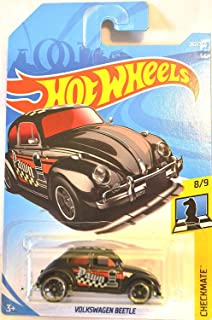 Hot Wheels 2018 50th Anniversary Checkmate Volkswagen Beetle (Pawn) 262/365, Black