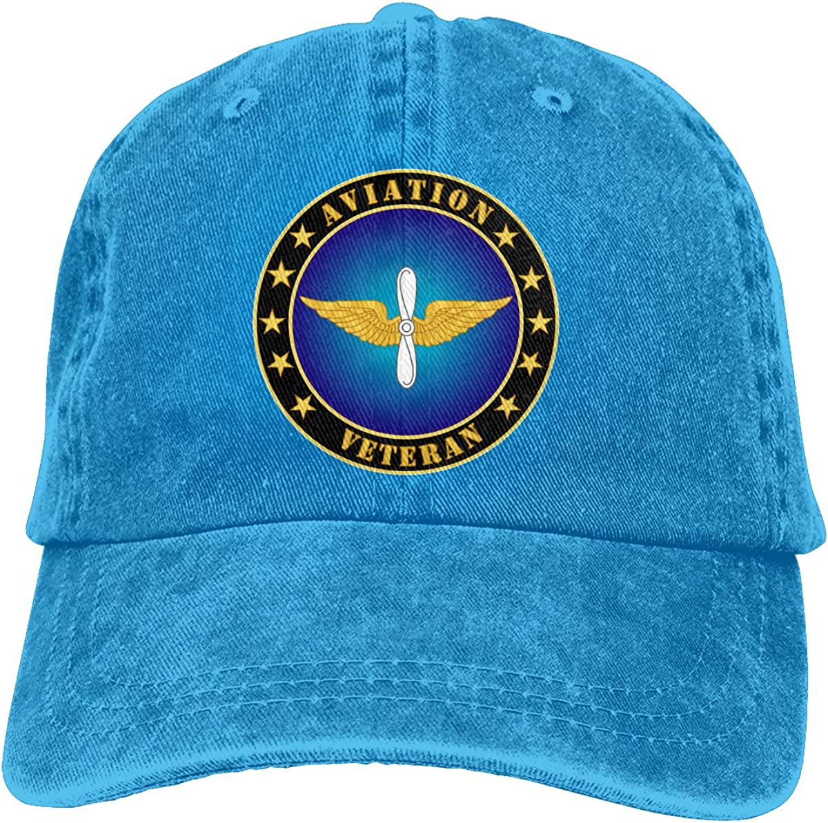 SLISL EIEI Aviation Veteran Adjustable Baseball Caps Denim Hats Cowboy Sport Outdoor