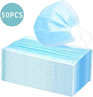 50 PCS Disposable Masks - Individual Package, Amatted 3-Ply