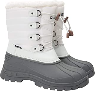 Mountain Warehouse Whistler Womens Snow Boots - Snowproof Ladies Winter Shoes, Warm, Textile Upper, Reinforced Heel & Toe ...