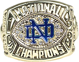 Notre Dame Fighting Irish Championship Ring 1988 BCS National Replica Lou Holtz with Display Wooden Box