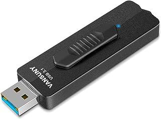 VANSUNY USB Flash Drive 256GB, USB 3.1 Flash Drive 400MB/s, Super Speed Solid State USB Drive Thumb Drive Slide Metal USB ...