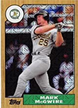 2017 Topps 87 Chrome Silver Promo Series 2 Refractors #87-MMG Mark McGwire Oakland Athletics