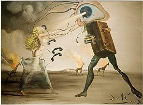 Spiffing Prints Salvador Dali - Burning Giraffes and a Telephone - Medium - Semi Gloss - Unframed