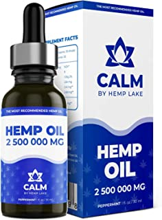 Hemp Oil for Arthritis, Anxiety Relief - Helps with Sleep, Stress, Hair Grown, Natural Peppermint Drops - R...