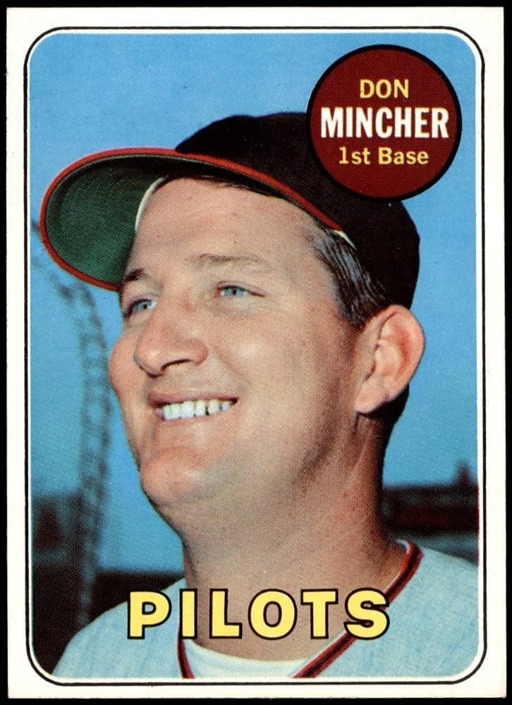 1969 Topps # 285 San Jose Mall Don Mincher Baseball Pilots Card NM+ Fresno Mall Seattle
