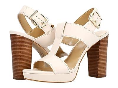 MICHAEL Michael Kors Becker T Strap (Light Cream) Women