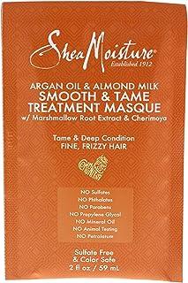 Shea Moisture Argan Oil & Almond Milk Smooth & Tame Treatment Masque by Shea Moisture for Unisex - 2 oz Masque, 59 ml